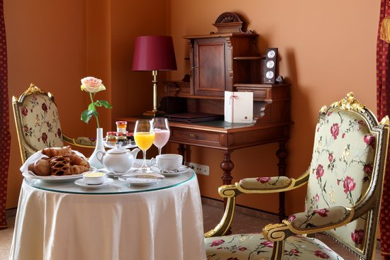 Gallery Park Hotel & Spa, a Chateaux & Hotels Collection: A'La Carte breakfast at Gallery Suite room