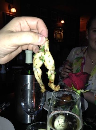 Rustique Lendal: these frogs legs about to hop into my mouth yum yum chicken of the pond!