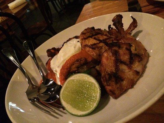 La Luna Bistro : Portugal style BBQ baby chicken tasty