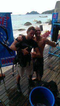 Goodtime Adventures, Koh Tao : dan and bjorn