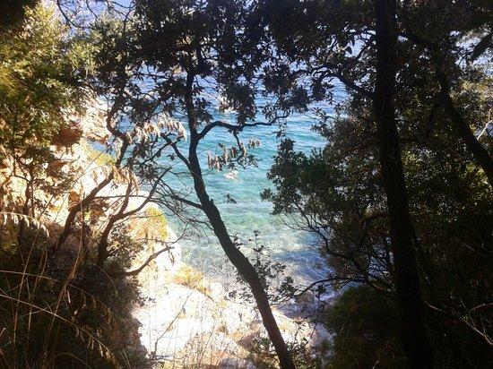 Scario, Italie : prima di scendere in spiaggia