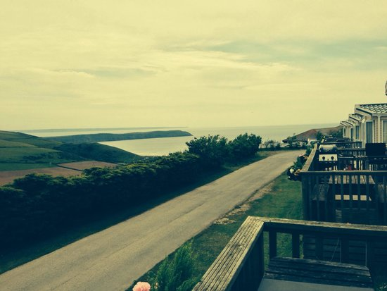 Woolacombe Bay Holiday Village : View from our exclusive caravan