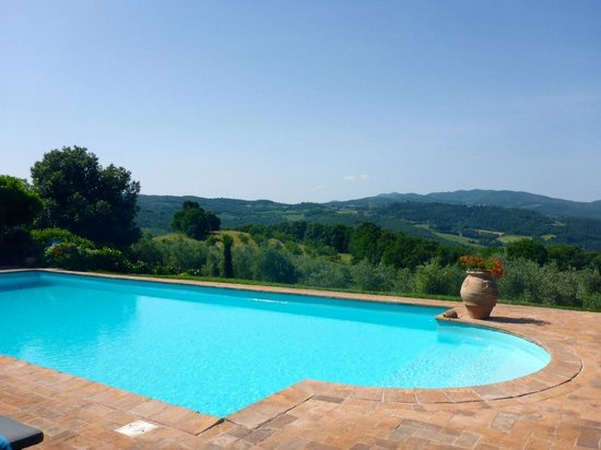 Tenuta di Canonica : The pool and breath taking views