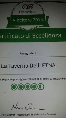 La Taverna dell' Etna : Grazie  a tutti voi..