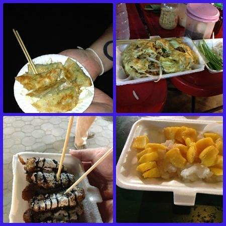 Saturday Night Market  Walking Street - Wua Lai Road: 4 of our 6 courses