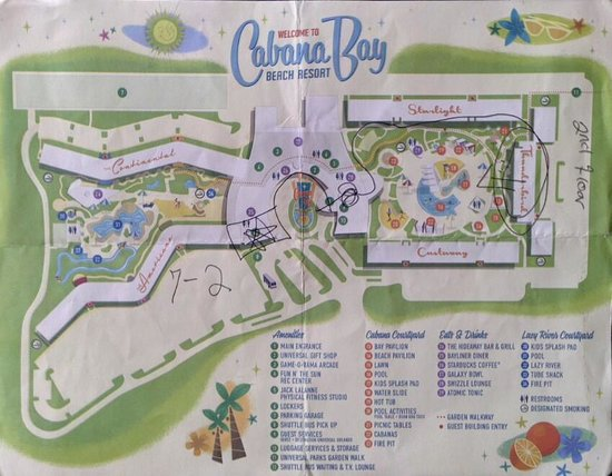 Map Of The Hotel Picture Of Universal S Cabana Bay Beach Resort