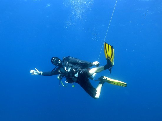 Wicked Diving, Komodo: Martyn at the safety stop