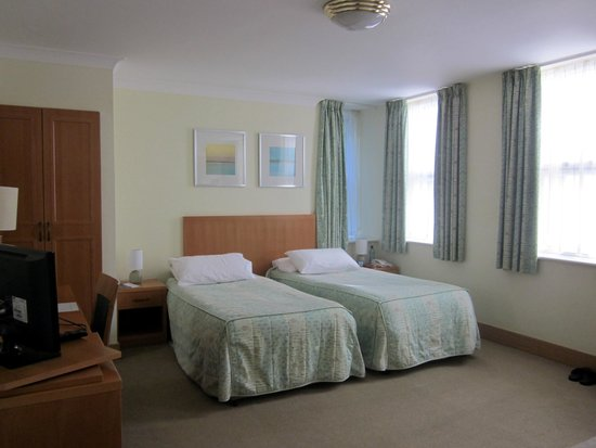 The Rutland Hotel: Twin bedded room