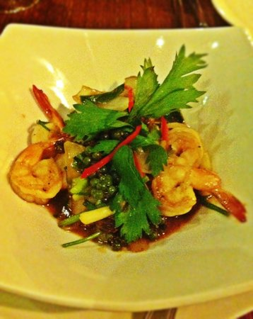 Chanrey Tree : Prawns with green peppers