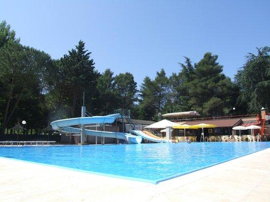 Camping Villaggio Italgest: piscina e ristorante molto bella