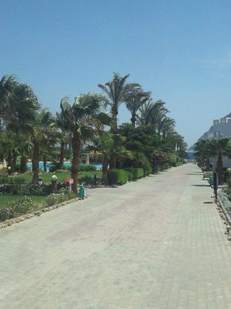 Happy Life Village: View to beach from restaurant