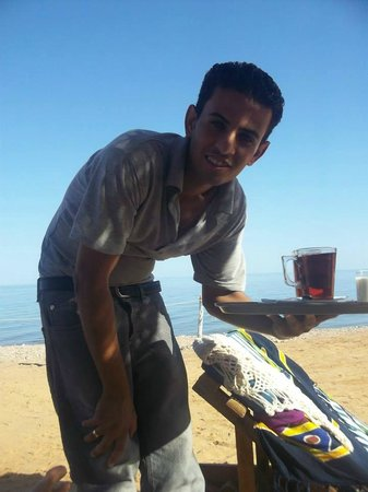 Happy Life Village: Bessim, the excellent beach waiter