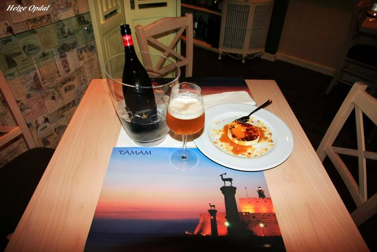 Tamam: exclusive beer and lovely dessert