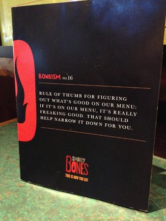 Smokey Bones Bar & Fire Grill: Amazing menu