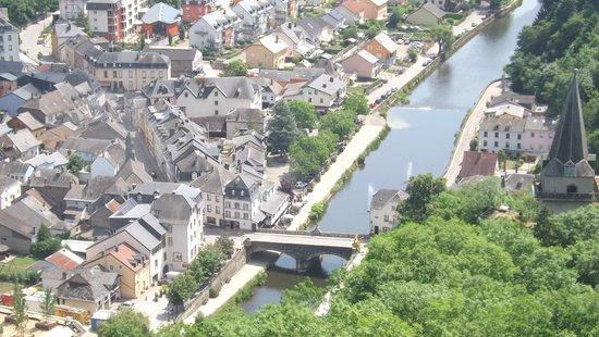 Grand Hotel de Vianden : View of Vianden from Vianden Castle