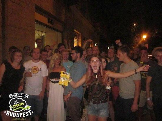 AllNightCrash Pub Crawl Budapest: Nice crowd
