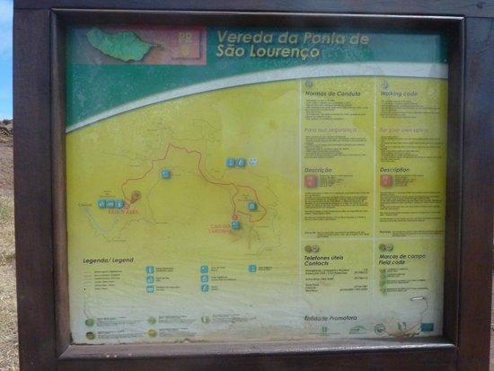 Ponta de São Lourenço : Plan de la rando
