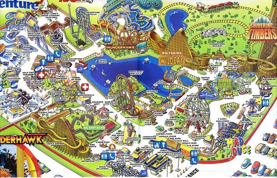 Muskegon, MI: Michigan Adventure Park Map