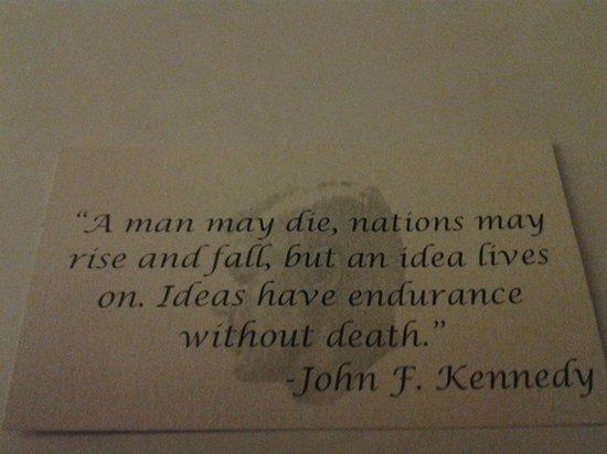 Hilton Fort Worth : JFK quote