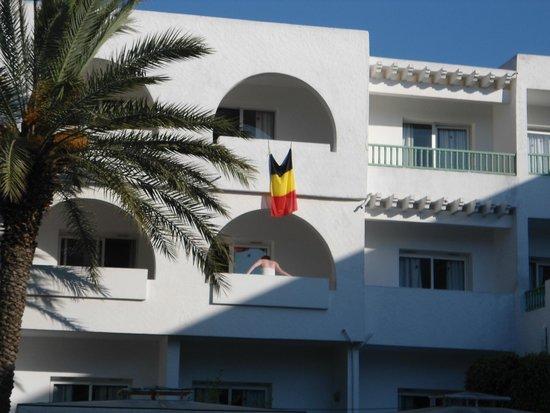 El Mouradi Port El Kantaoui : vue de notre balcon, les belges sont dans la place
