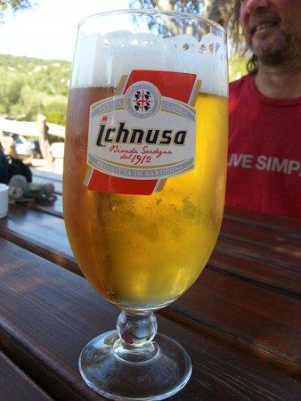 Cala Goloritze: A fresh beer at the Bar.
