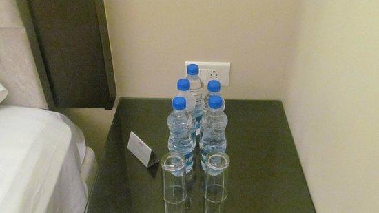 Goldfinch Hotel Mumbai: Water bottles