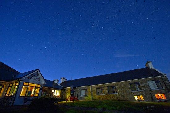 Pure Magic Achill: lodge at night