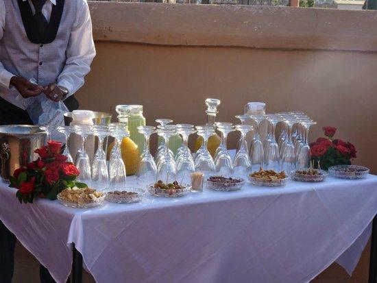 Riad Matham : coktail de jus et champagne