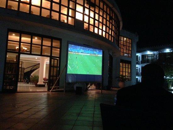 Golden Tulip Dar Es Salaam: Outside Big Screen for World Cup