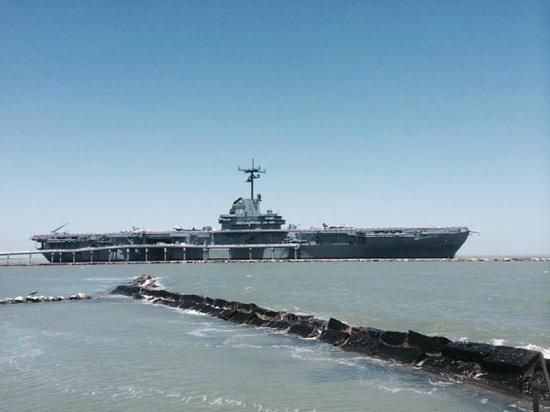 USS LEXINGTON: View of the Lex from the Aquarium