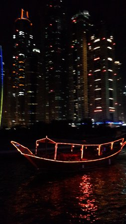 Dubai Marina Luxury Dhow Dinner Cruise: one of the small dhow