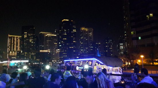 Dubai Marina Luxury Dhow Dinner Cruise: some of the buildings in the creek