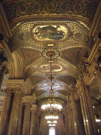 Opéra Garnier : Teto de um dos salões do palácio.