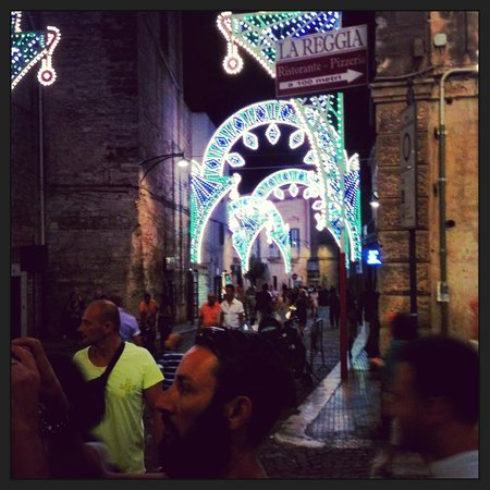 Ostuni, Italy: Festa Lights