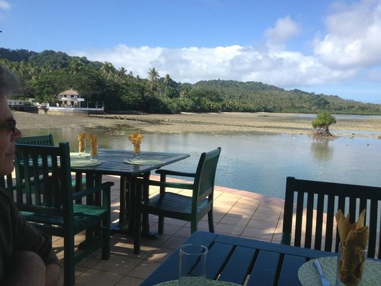 Koro Sun Resort and Rainforest Spa: our view at lunch