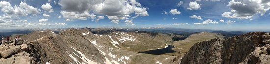 Mount Evans : Panoramic view from the top.