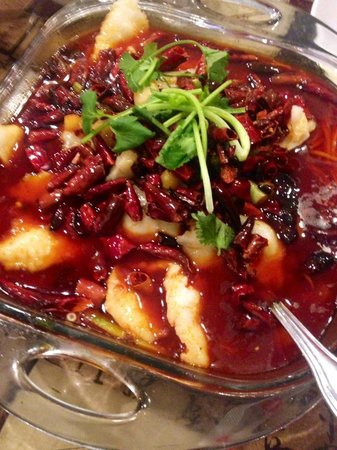 Rez's Ping Pong: Ping Pong spicy fish (from the Chinese-only blackboard)