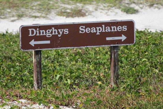 Dry Tortugas National Park: rare signage