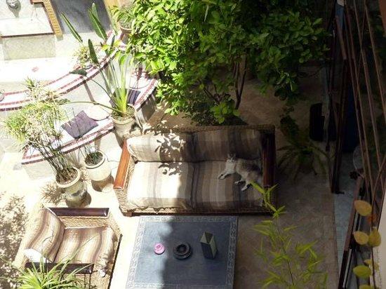 Riad Tara Hotel & Spa: 上階から中庭を望む
