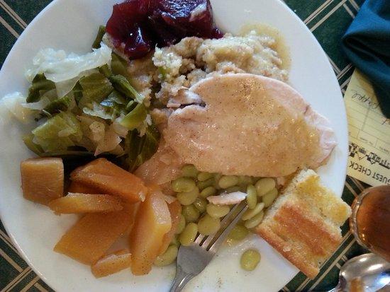 A Taste of Lemon Restaurant: Turkey/Dressing, Limas, Rutabagas and Cabbage!
