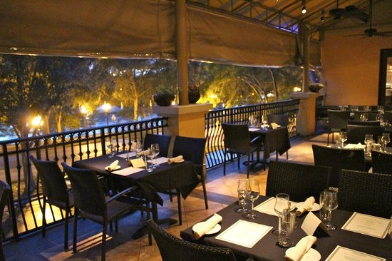 Outside dining on the balcony upstairs picture of for Restaurants with balcony