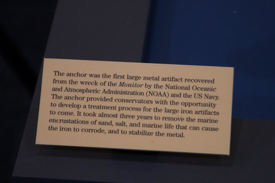 The Mariners' Museum & Park: Description of the anchor