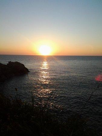 Punta Cometa: sun set