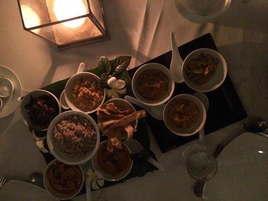 Apa Villa Thalpe: Candle lit dinner