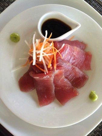 Apa Villa Thalpe: Fresh tuna sashimi