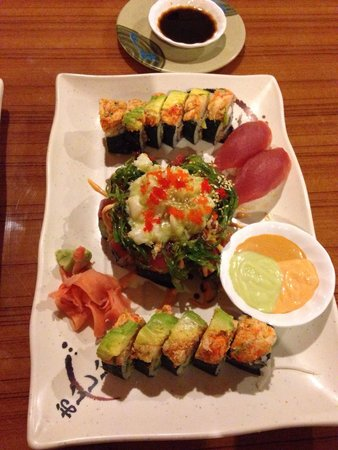 Osaka Sushi Bar Japanese: Master of disaster roll & shipwreck in the middle. Delicious!