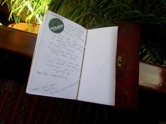 Riad Quara: I left some words in the guest book...:)