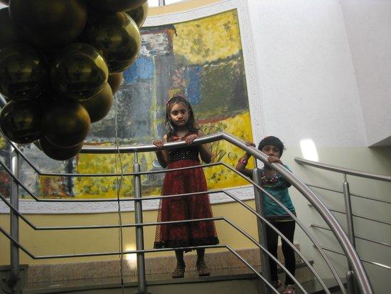 Aishwarya Residency: My Kids On the Stairway...