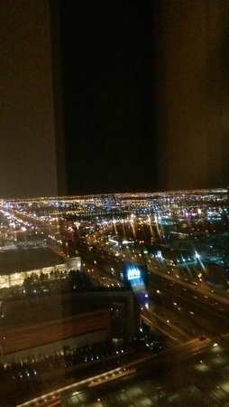 Vdara Hotel & Spa: View from room at night 40th floor
