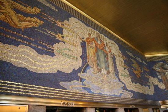 Rockefeller Center: Artwork in one of the Rockefeeler Buildings